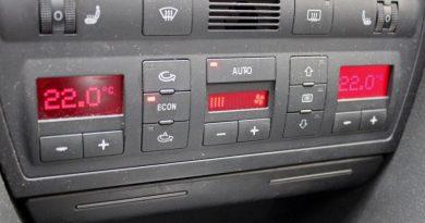 Cuadro de mandos aire acondicionado