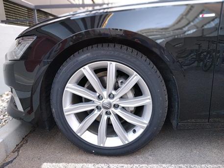 Llanta Audi A6 con disco de freno