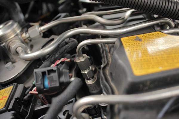 Inyector de coche instalado