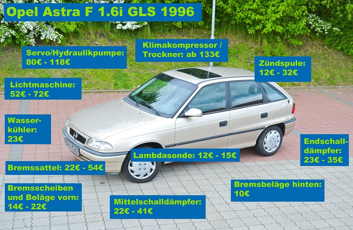Opel Astra GLS Ersatzteile
