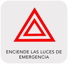 Enciende las luces de emergencia