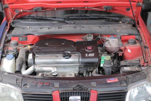Compartimento del motor del coche