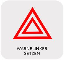 Aquaplaning: Warnblinker setzen